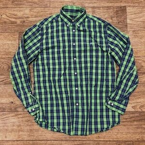 Southern Marsh Plaid Button Shirt M